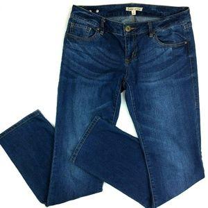 Cabi Boyfriend Straight Dark Mid Rise Jeans